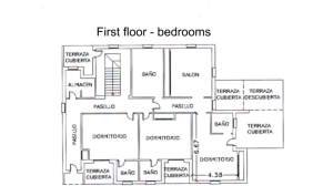 floor plan - bedrooms