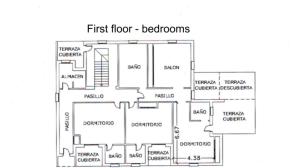 floor plan - bedrooms